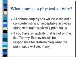 what counts as physical activity