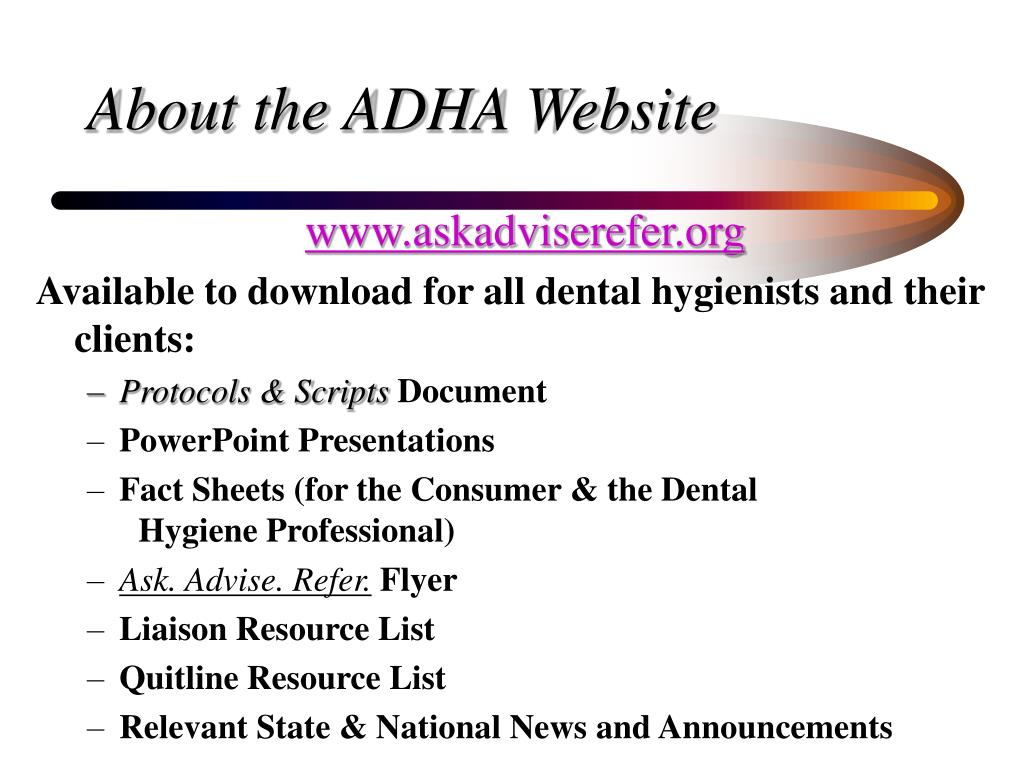 About the ADHA Website
