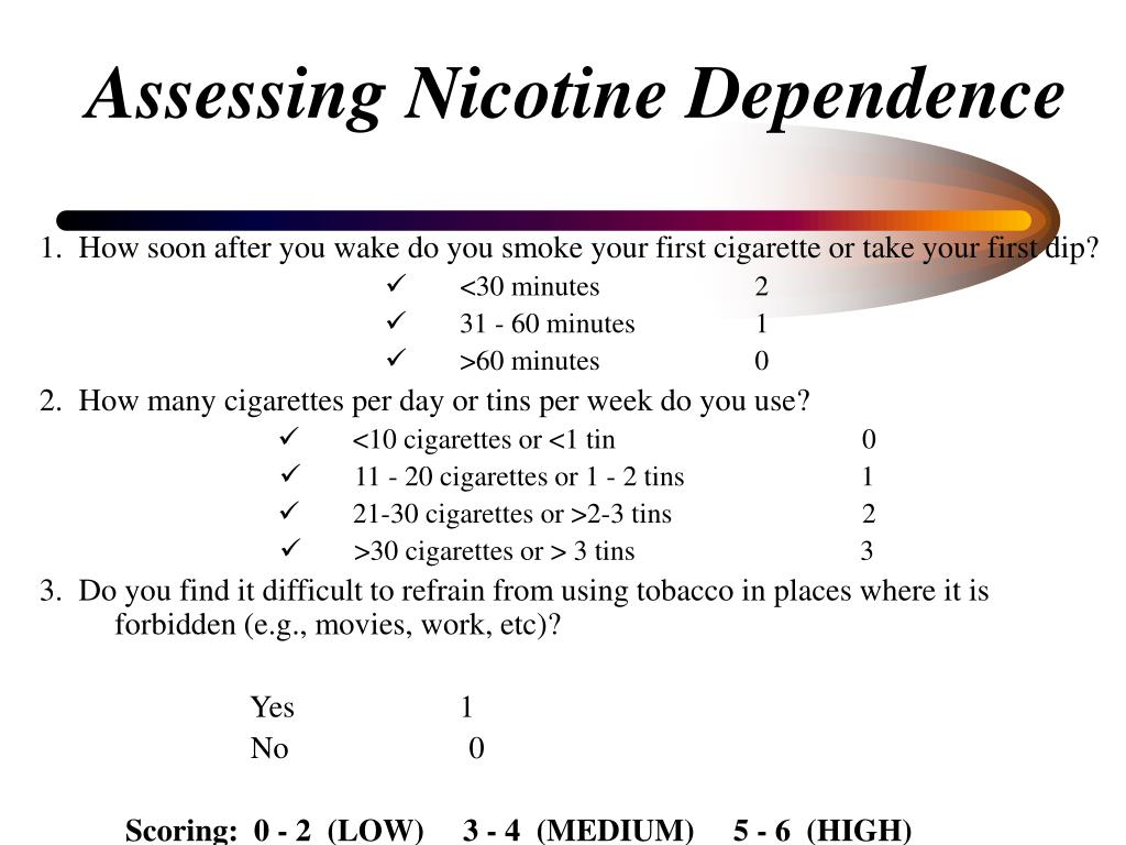Assessing Nicotine Dependence