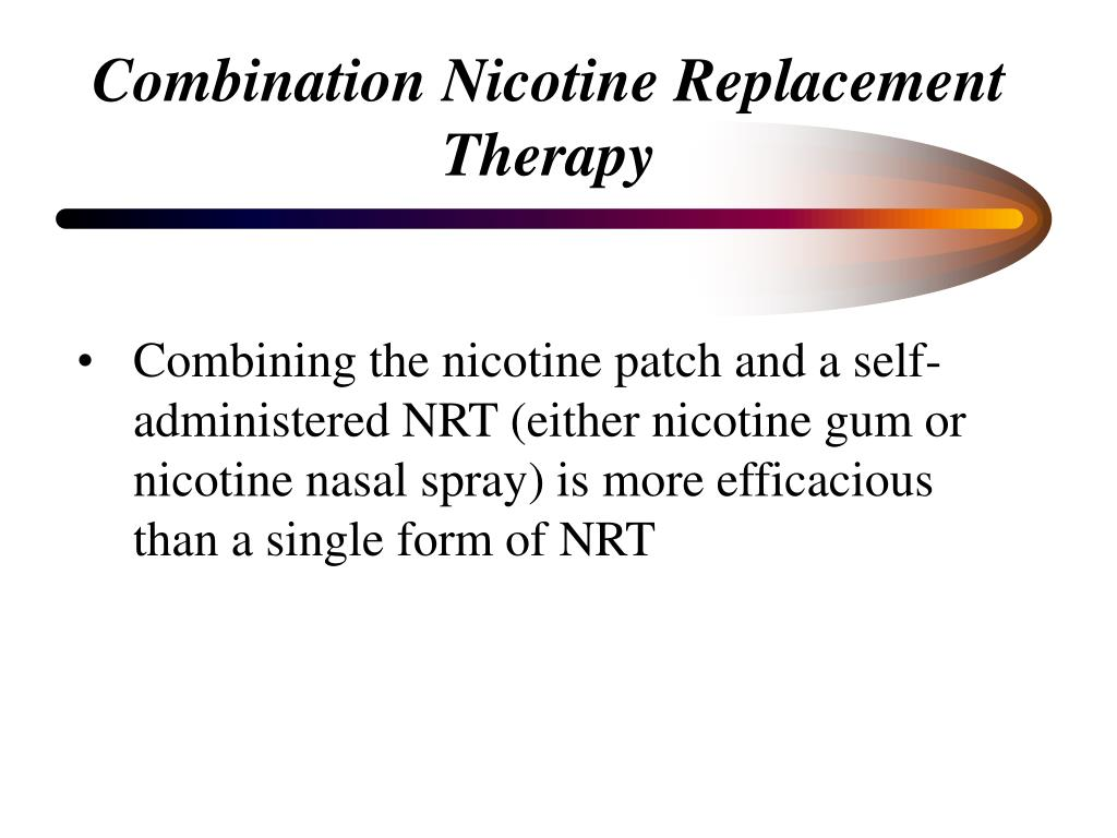 Combination Nicotine Replacement Therapy