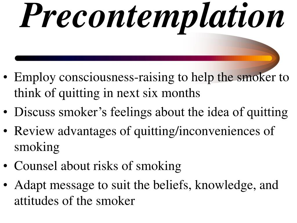 Precontemplation