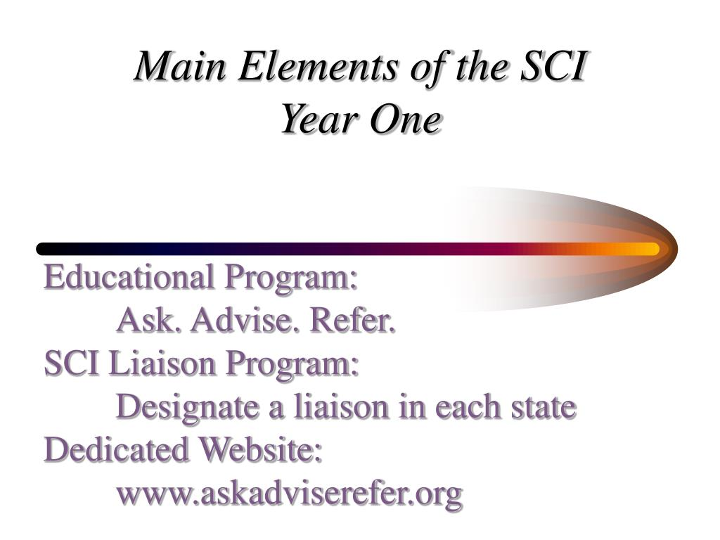 Main Elements of the SCI