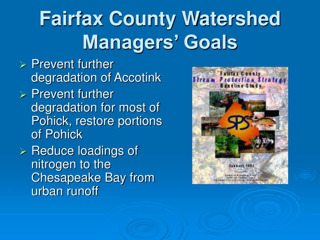 Fairfax County Watershed Managers' Goals