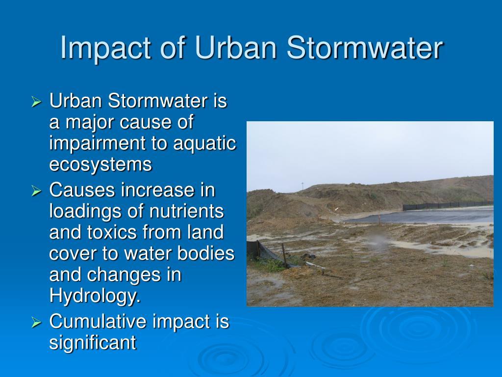 Impact of Urban Stormwater