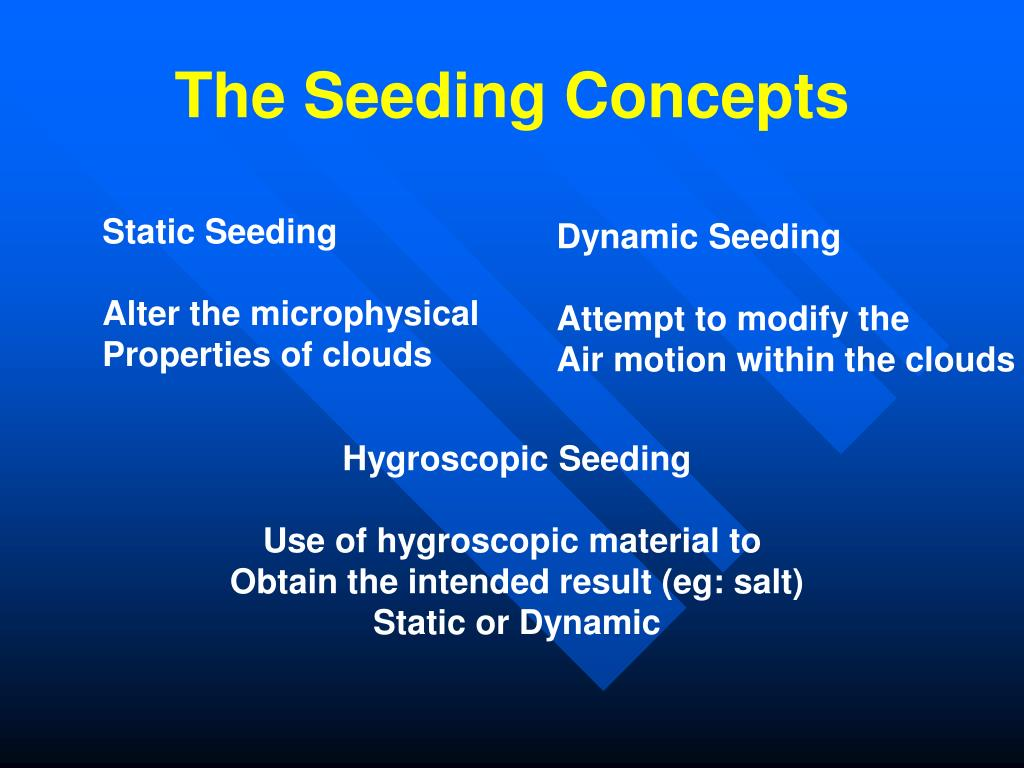 The Seeding Concepts