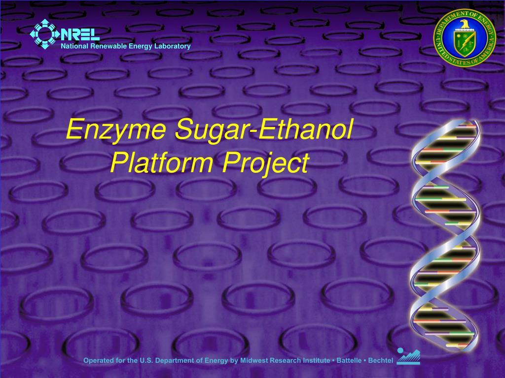 enzyme sugar ethanol platform project l.