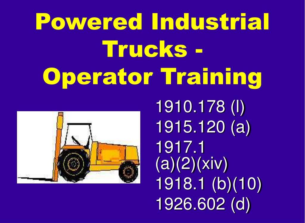 Powered Industrial Trucks -