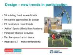 design new trends in participation