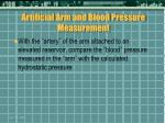 artificial arm and blood pressure measurement