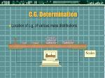 c g determination