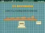 c g determination37