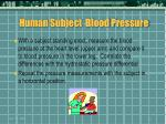 human subject blood pressure