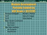 module development partially funded by nsf grant 0127245