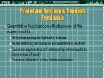 prototype testing student feedback42