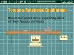 torque rotational equilibrium