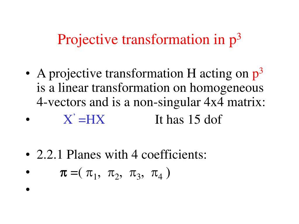 projective-transformation-in-p-3-l Homogeneous Transformation Matrix Example on perspective projection matrix, project matrix, rotation matrix, dependency matrix, alternative investment matrix,