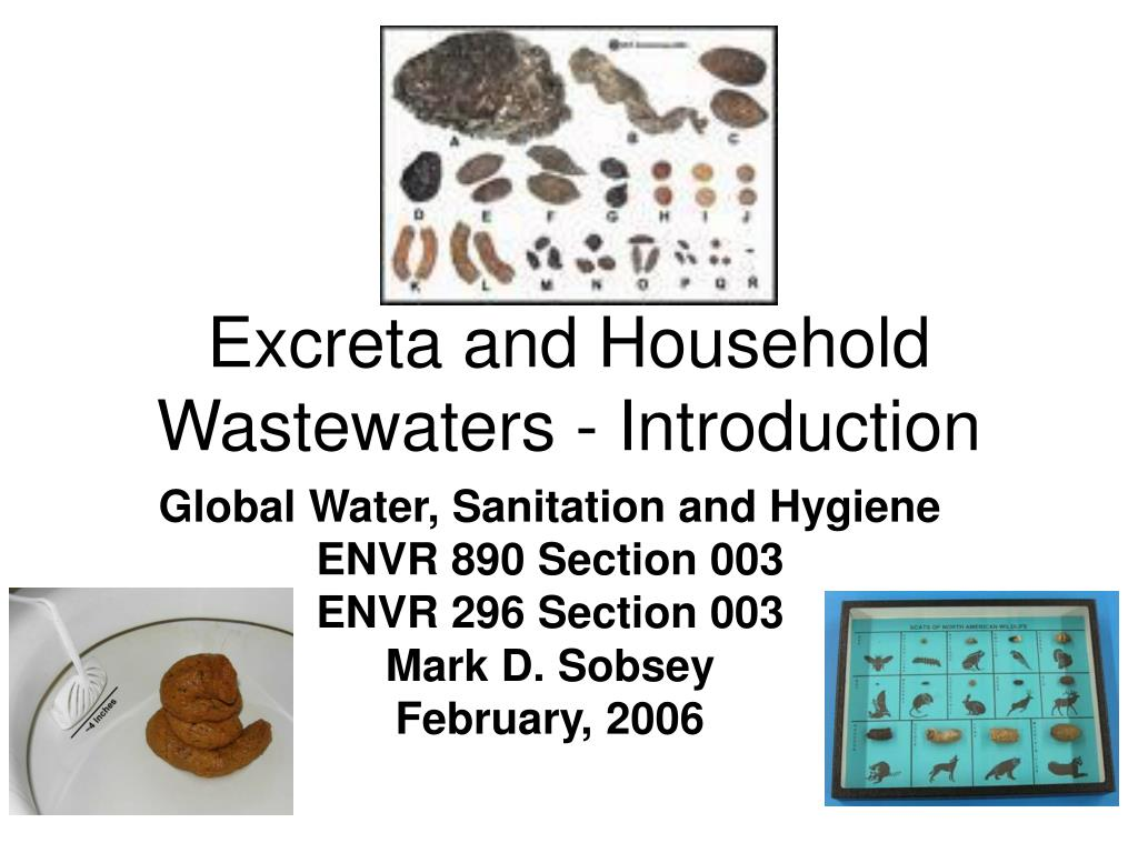 excreta and household wastewaters introduction