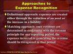 approaches to expense recognition