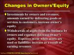 changes in owners equity