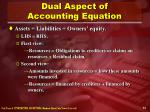 dual aspect of accounting equation