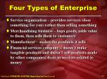 four types of enterprise