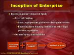 inception of enterprise