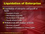 liquidation of enterprise