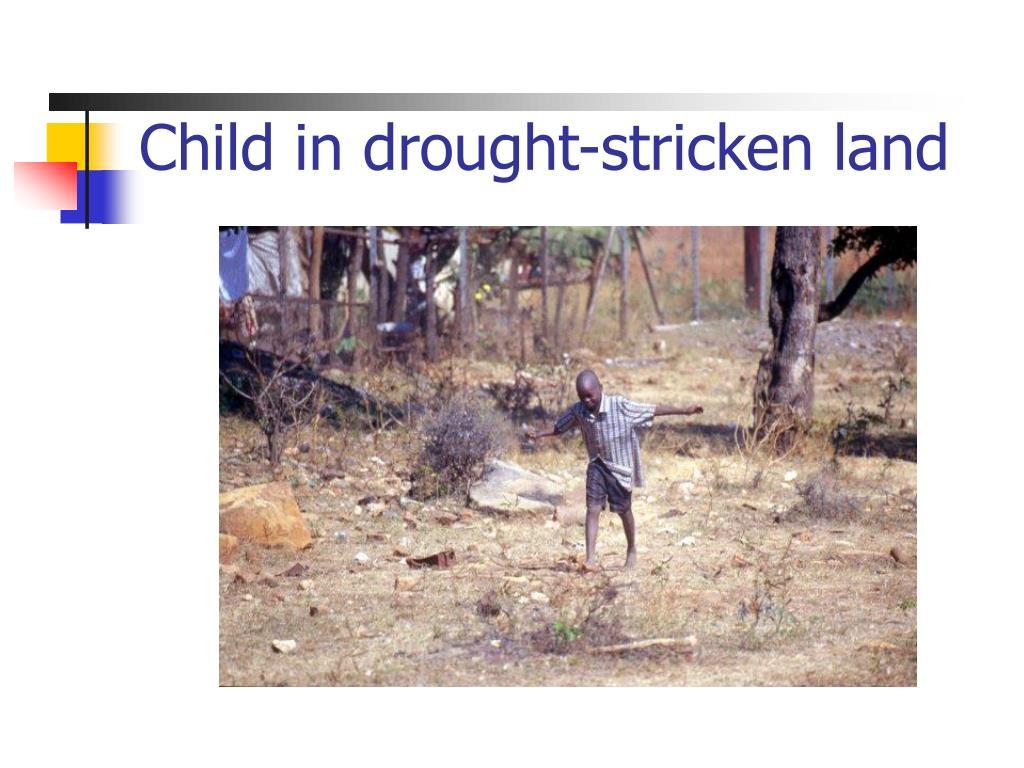 Child in drought-stricken land