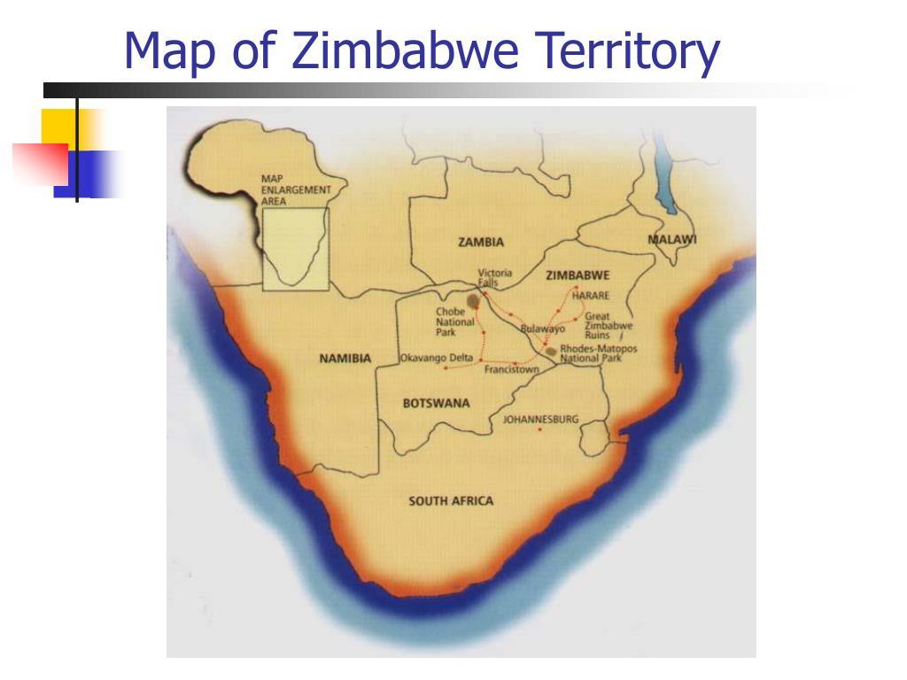 Map of Zimbabwe Territory