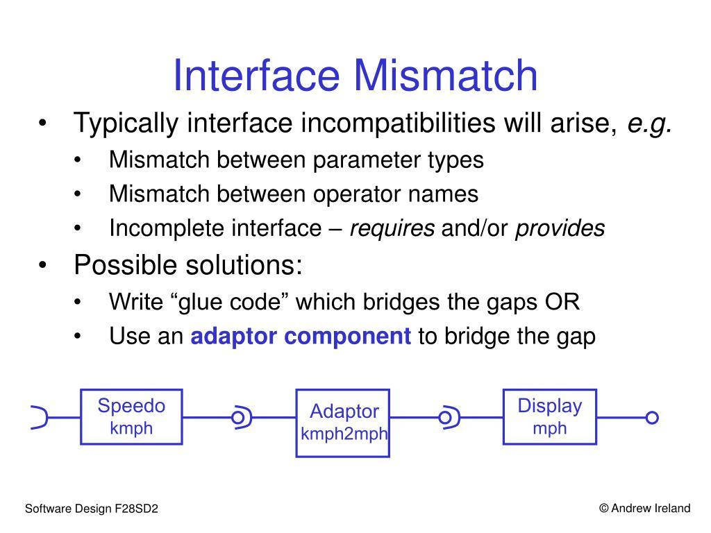 Interface Mismatch