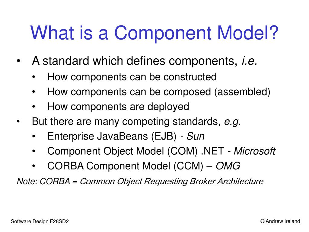 What is a Component Model?
