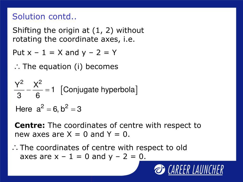 The equation (i) becomes