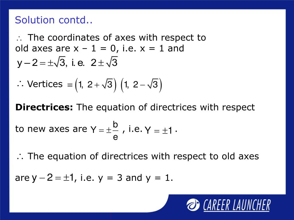 The coordinates of axes with respect to