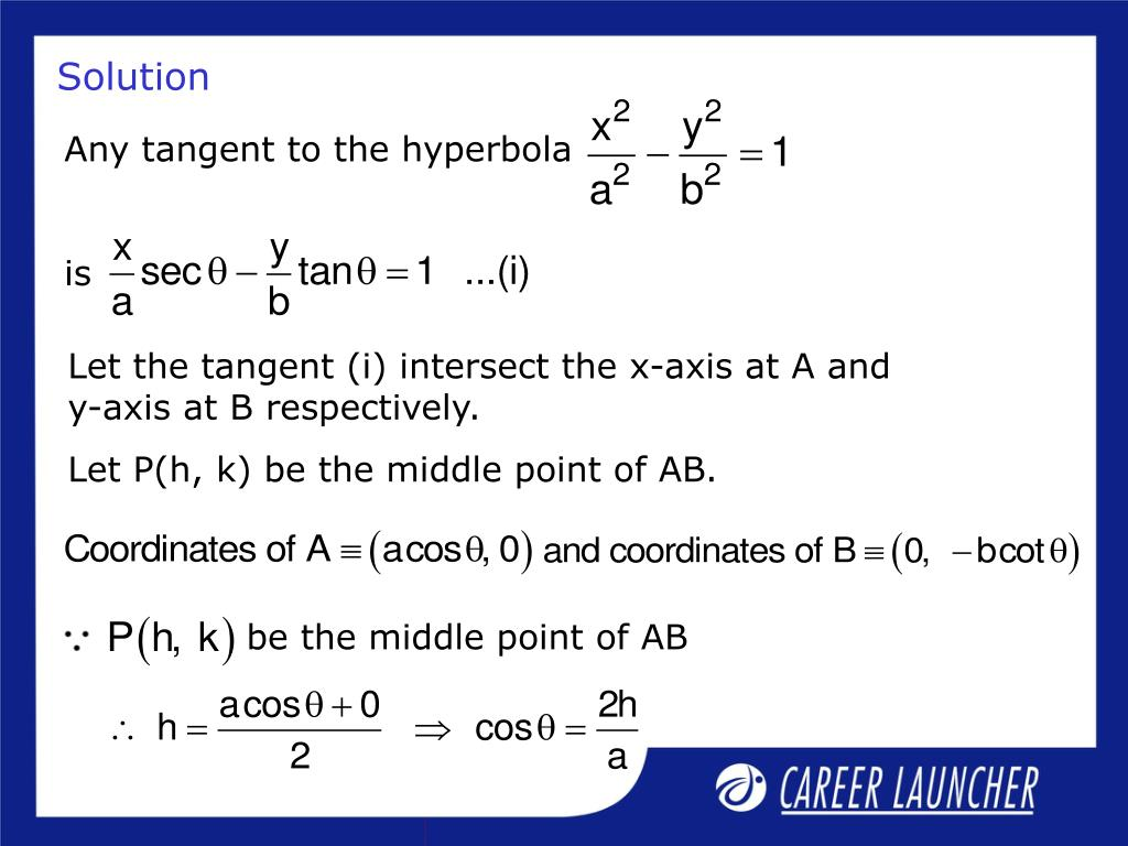 Any tangent to the hyperbola