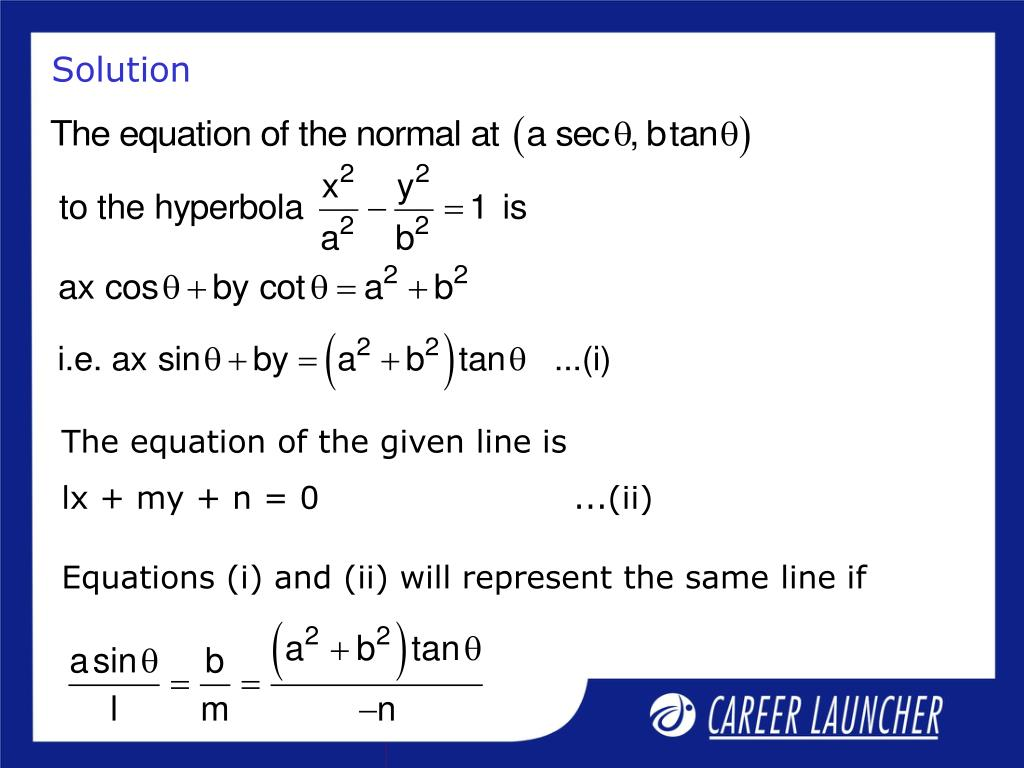 Equations (i) and (ii) will represent the same line if