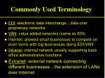 commonly used terminology