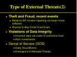 type of external threats 2