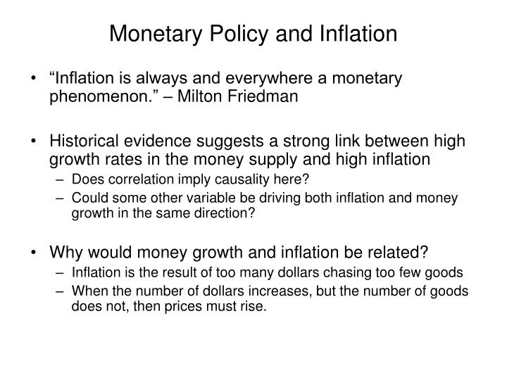 monetary policy and inflation dynamics 2018-6-21  abstract: this paper investigates the evolution of inflation dynamics in the five largest asean countries between 1997 and 2017 to account for changes in the monetary policy frameworks since the asian financial crisis (afc), the analysis is based on.