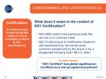 conformance and certification 2