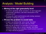 analysis model building