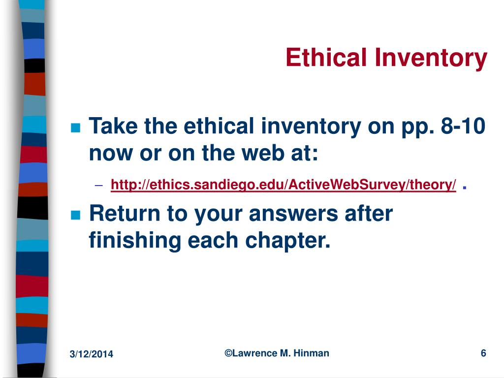 Ethical Inventory