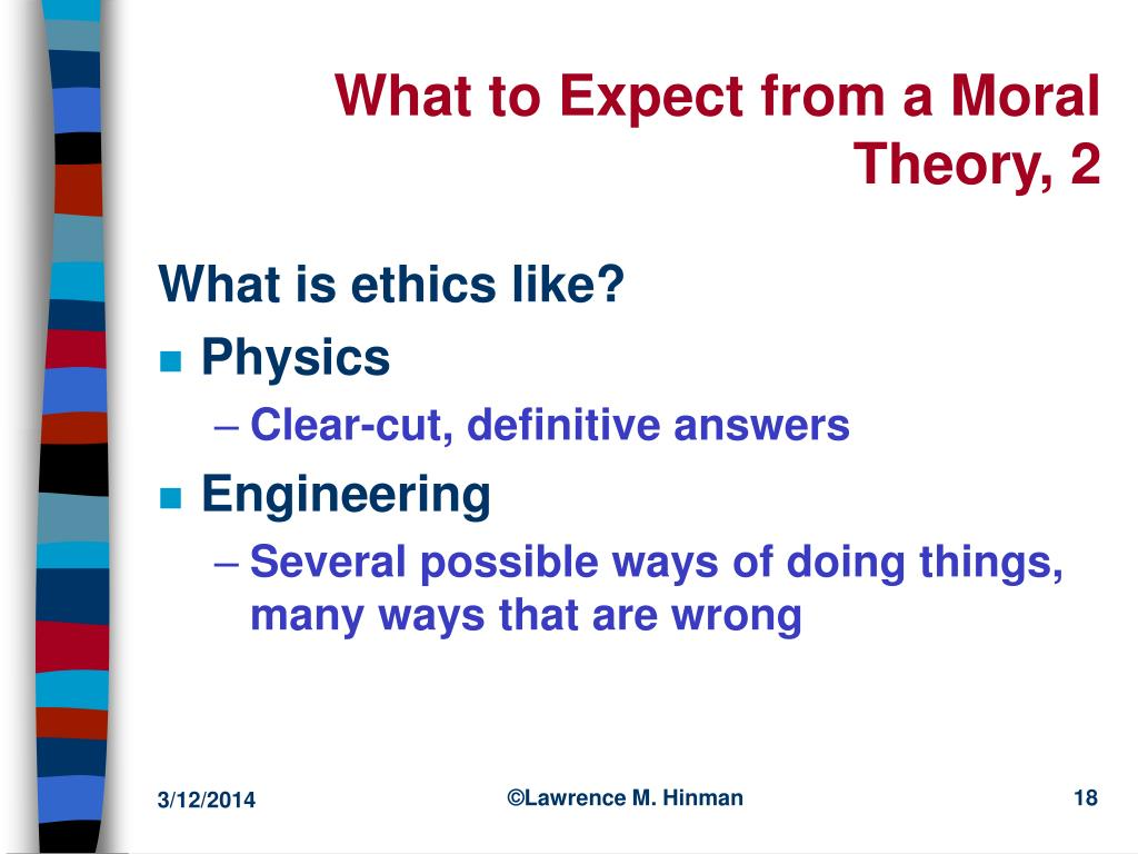 What to Expect from a Moral Theory, 2