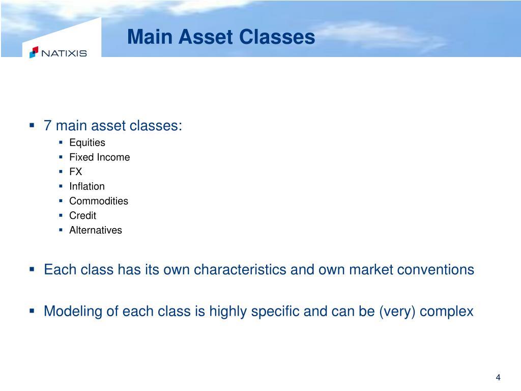 Main Asset Classes