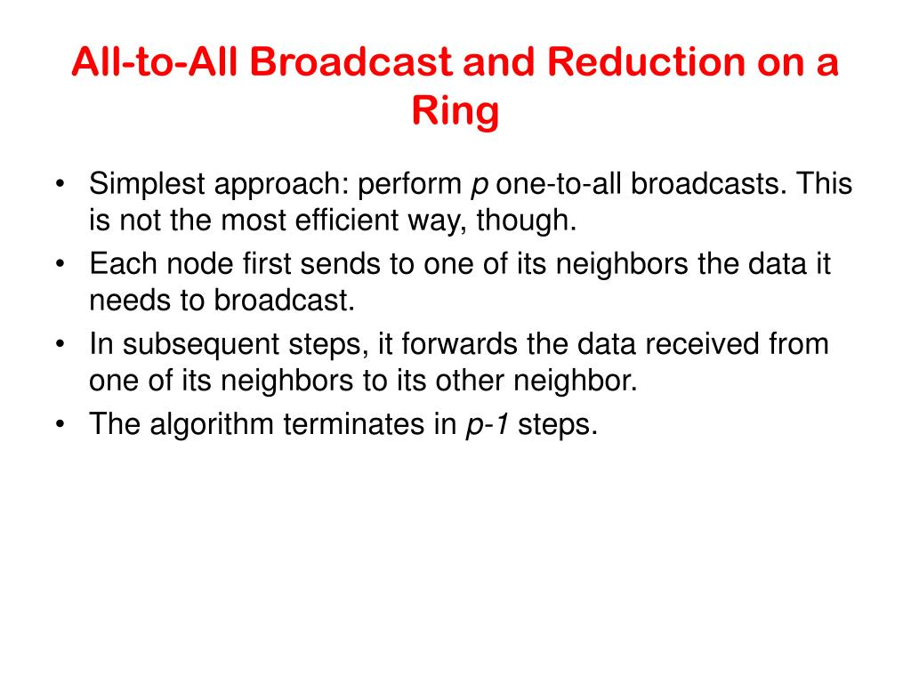 All-to-All Broadcast and Reduction on a Ring