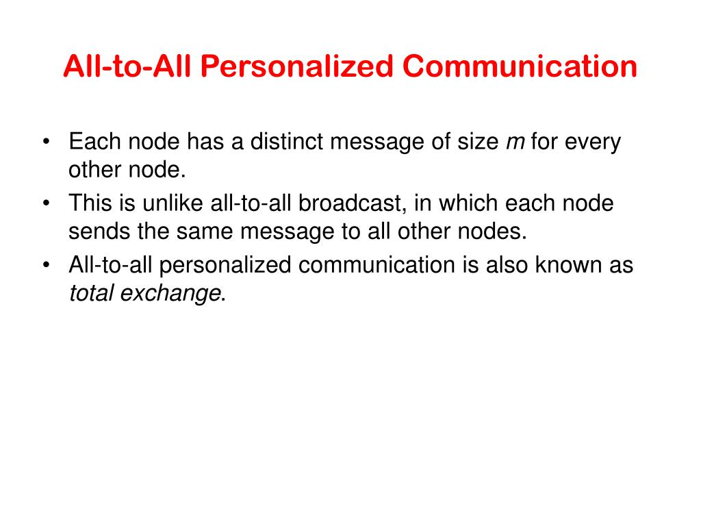 All-to-All Personalized Communication