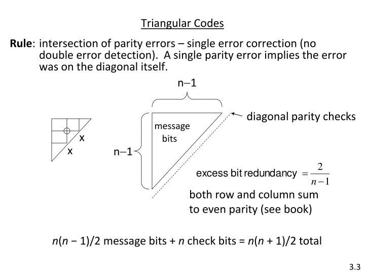 Triangular codes