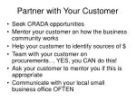 partner with your customer