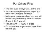 put others first