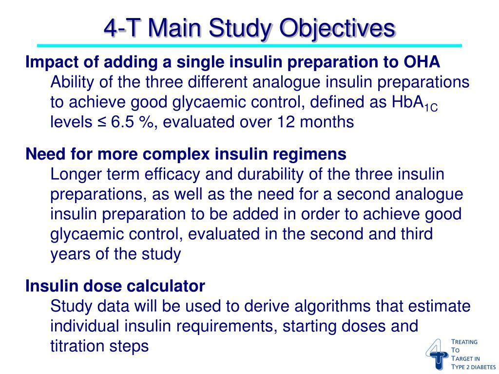 Impact of adding a single insulin preparation to OHA