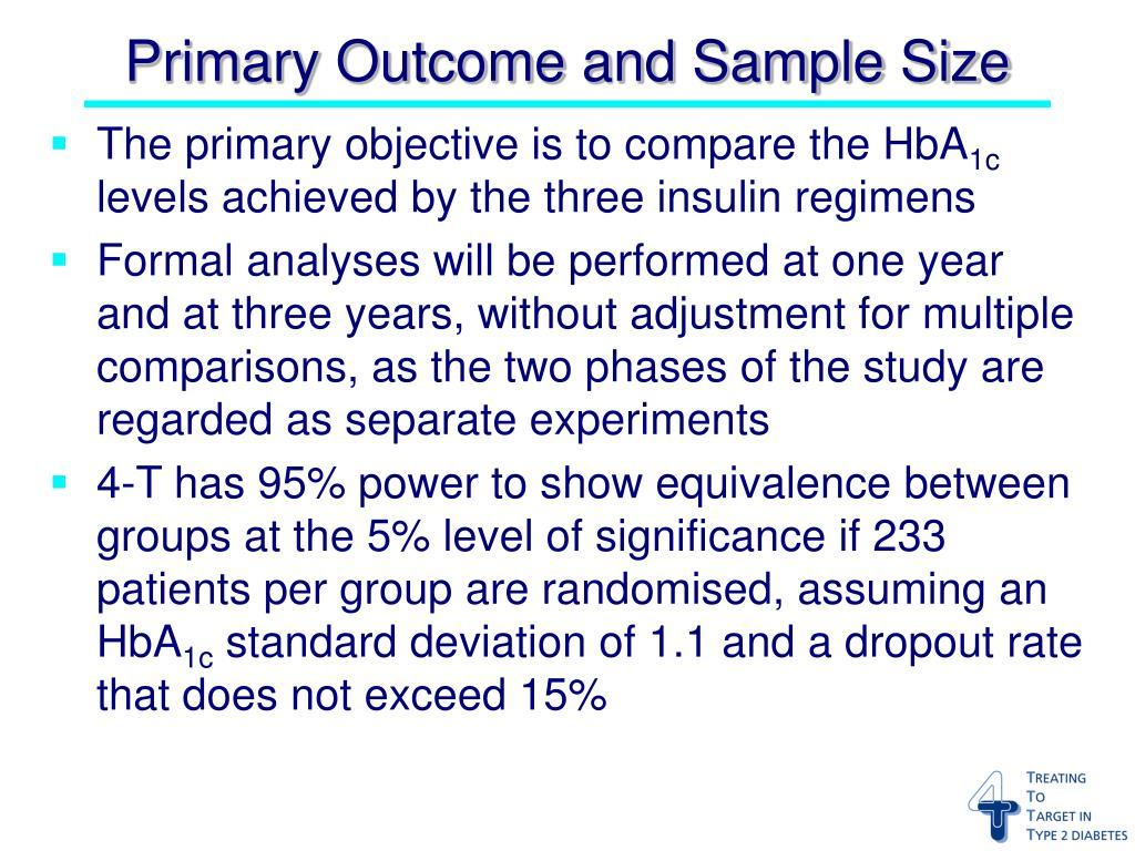 Primary Outcome and Sample Size